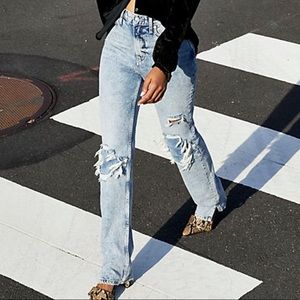 Free People My Own Lane Jeans Blue